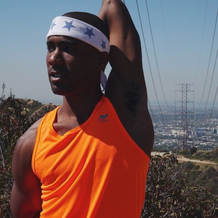Runyon Canyon Apparel Mens Neon Orange Yoga Tank