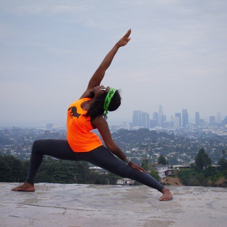 Runyon Canyon Apparel Womens Orange Yoga Tank Top Made In USA