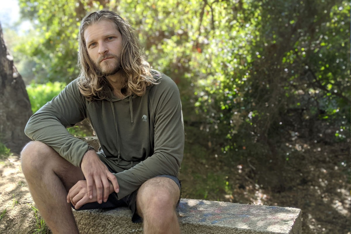 American Made In USA Mens Hiking Clothing Running Outdoor Fitness Olive Green Hoodie Performance Sportswear Runyon Canyon Apparel