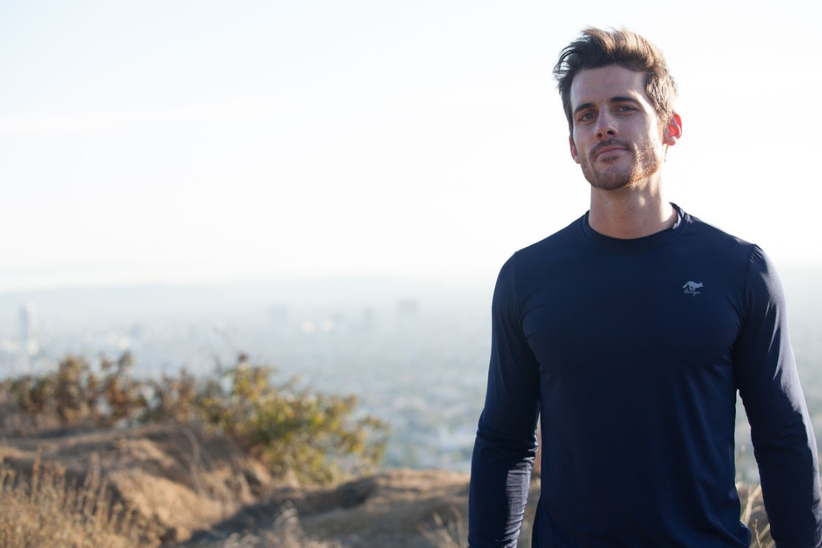 American Made In USA Mens Running Clothing Performance Sportswear Fitness Shirts Hiking Runyon Canyon Apparel