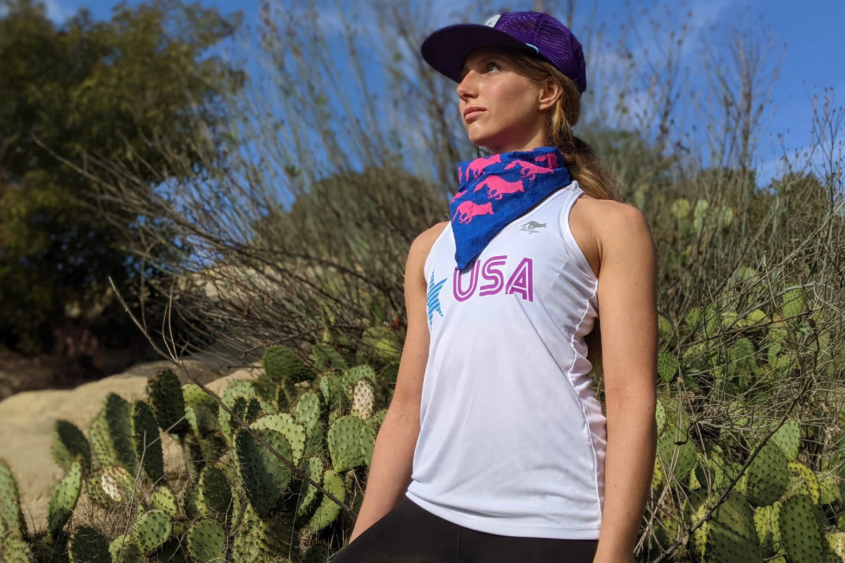 American Made In USA Running Clothing Womens Performance Tank Tops Fitness Apparel