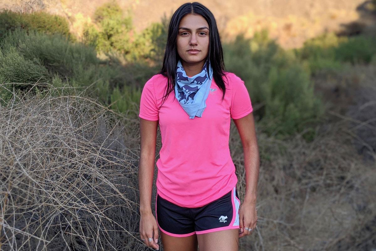Runyon Canyon Apparel Womens Hot Pink Fitness Shorts and Training Shirts Made In USA