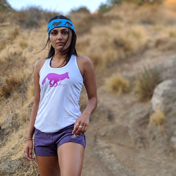 Runyon Canyon Apparel Womens Hot Purple Tank Top Heather Purple Fitness Shorts