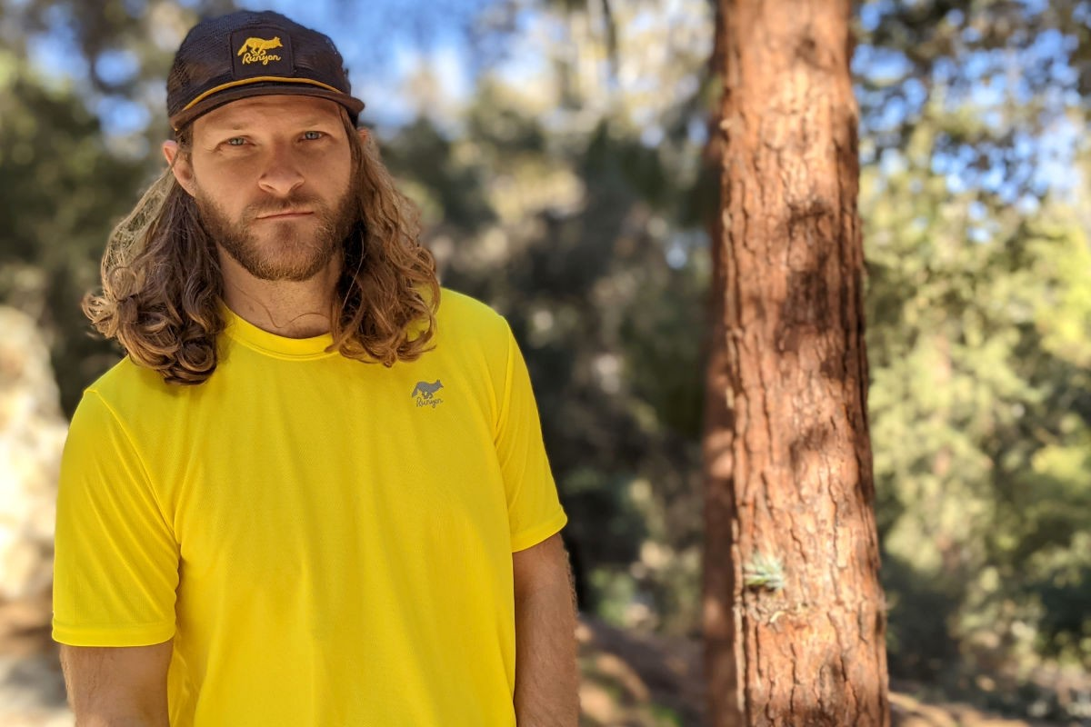 American Made In USA Hiking Clothing Trail Running Outdoor Fitness Yellow Gold Performance Shirt