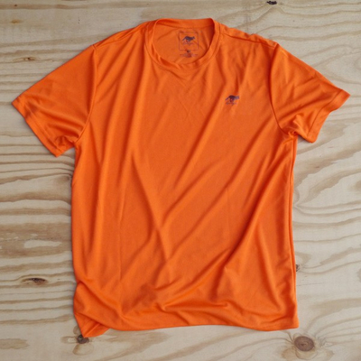 Runyon Canyon Apparel Mens Orange Performance Trail Shirt Made In USA