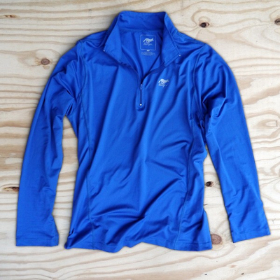 Runyon Canyon Apparel Mens Cobalt Quarter Zip Made In USA