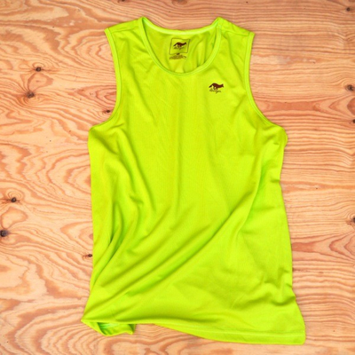 Runyon Canyon Apparel Mens Bright Lime Performance Power Tank Made In USA
