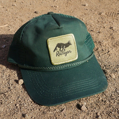Runyon Canyon Apparel Green Forester Terry Sweatband Vintage Trucker Hat