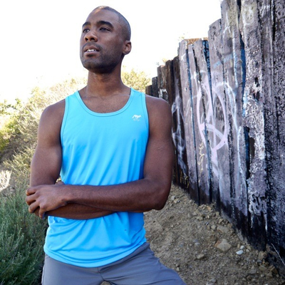 Runyon Canyon Apparel Mens Amazing Blue Ultra Tank Made In The USA