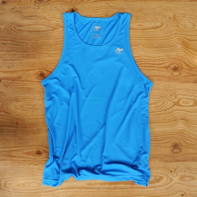 Runyon Canyon Apparel Mens Amazing Blue Yoga Singlet (Made In The USA)