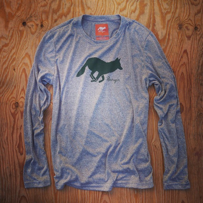 Runyon Canyon Apparel Men's Long Sleeve Green Forester Performance Fitness Shirt