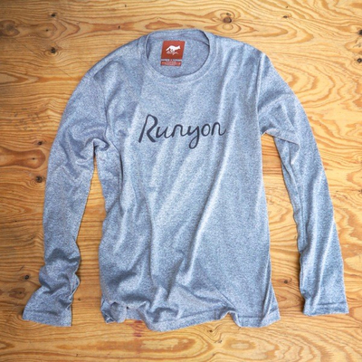 Runyon Canyon Apparel Mens Signature Logo Long Performance Fitness Shirt Made In USA
