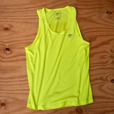 Runyon Canyon Apparel Mens Neon Yellow Yoga Tank (Made In The USA)