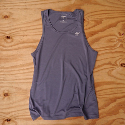 Runyon Canyon Apparel Mens Gray Stone Performance Tank (Made In USA)