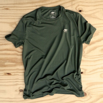 Runyon Canyon Apparel Mens Earthy Green Performance Trail Shirt Made In USA