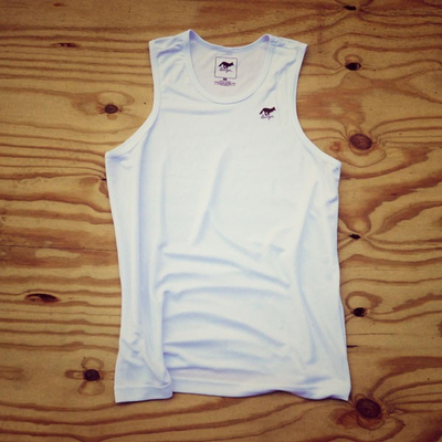Runyon Canyon Apparel Mens White Performance Tank Top Running Singlet Made In USA