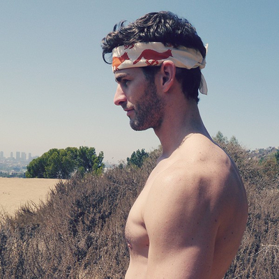 Runyon Canyon Apparel Natural Orange Rust Bandana Made In USA