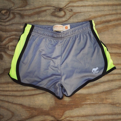 Runyon Womens Neon Greystone Performance Training Shorts Made In USA