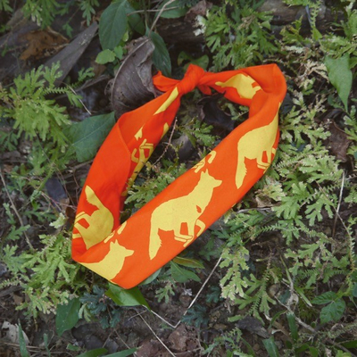 Runyon Orange Sonic Citrus Bandana Made In USA