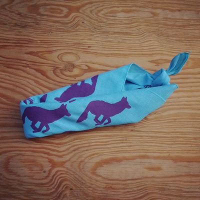 Runyon Canyon Apparel Purple Turquoise Bandana Made In USA