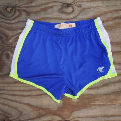 Runyon Canyon Apparel Womens Rad Royal Neon Training Shorts Made In USA