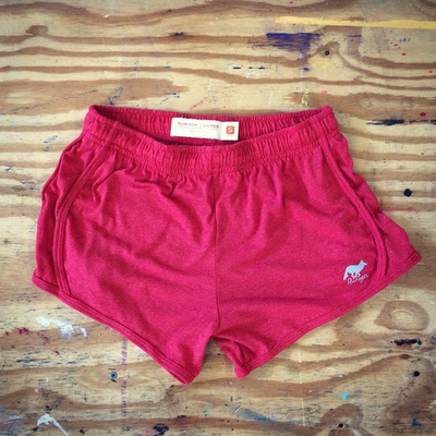 Runyon Canyon Apparel Womens Strawberry Haze Poly Cotton Fitness Shorts Made In USA