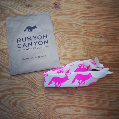 Runyon Canyon Apparel Totally Hot Pink Natural Bandana Made In USA