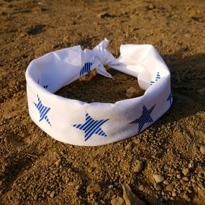 Runyon Canyon Apparel Blue Striped Star Bandana Made In The USA