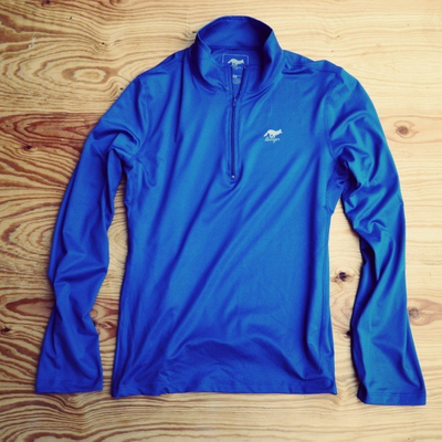 Runyon Canyon Apparel Womens Cobalt Blue Peformance Zip