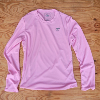 Runyon Canyon Apparel Womens Cool Pink Long Trail Shirt Made In USA