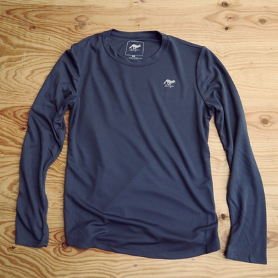 Runyon Canyon Apparel Womens Graphite Long Sleeve Performance Trail Shirt Made In USA
