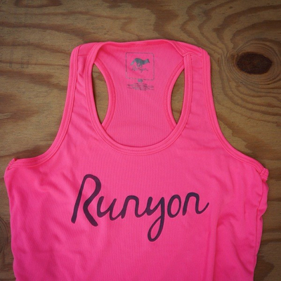 Runyon Canyon Apparel Women's Hot Pink Script Yoga Tank