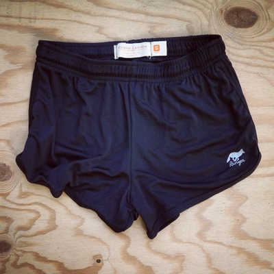 Runyon Canyon Apparel Womens Black Basic Training Running Shorts - Made In USA