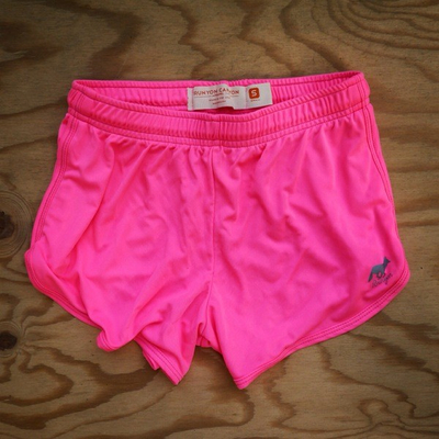 Runyon Canyon Apparel Womens Totally Hot Pink Basic Training Running Shorts - Made In USA