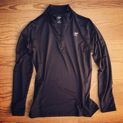 Runyon Canyon Apparel Womens Black Perfomance Zip Up Made In The USA