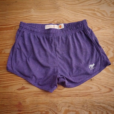 Runyon Canyon Apparel Womens Purple Heather Workout Fitness Shorts