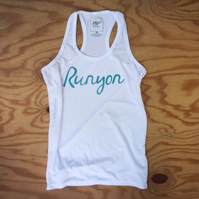 Runyon Canyon Apparel Women's Teal Script Yoga Tank