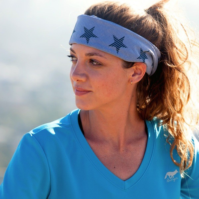 Runyon Canyon Apparel Denim Striped Star Bandana Made In USA