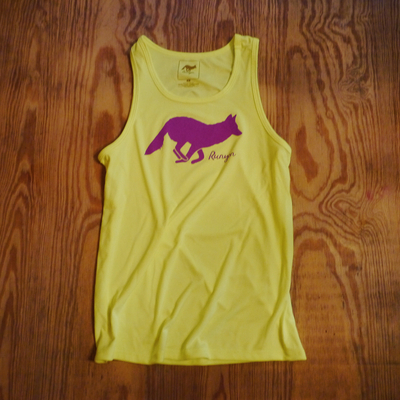 Runyon Canyon Apaprel Womens Hot Purple Neon Fitness Tank Made In USA