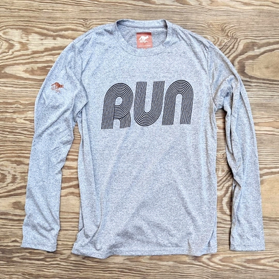 American Made In USA Mens Running Clothing RUN Long Signature Shirt Performance Fitness Sportswear Runyon Canyon Apparel