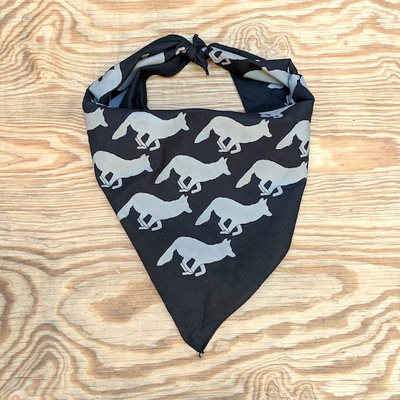 Runyon Canyon Apparel Black Smoking Ninja Signature Bandana great for Running, Hiking, Trails, Outdoor Fitness Made In USA