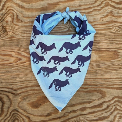 Runyon Canyon Apparel Blue Plum Signature Bandana great for Running, Hiking, Trails, Outdoor Fitness Made In USA