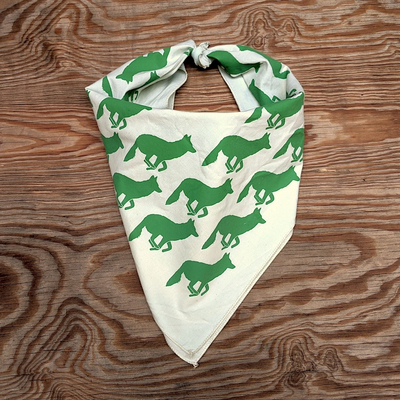 Runyon Canyon Apparel Evergreen Creme Signature Bandana great for Running, Hiking, Trails, Outdoor Fitness Made In USA
