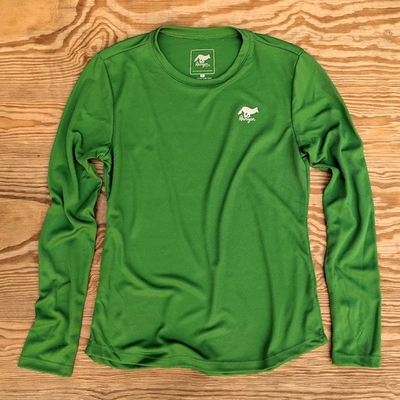 Runyon Canyon Apparel Womens Clover Green Long Trail Shirt Made In USA