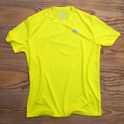 Runyon Canyon Apparel Mens Mellow Yellow Trail Shirt - Performance Active Fitnesswear Made In USA