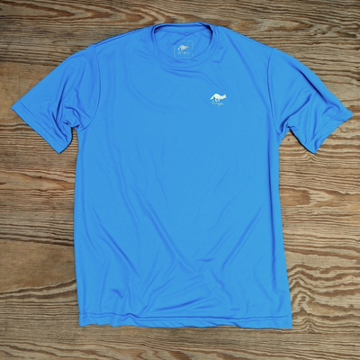 Runyon Canyon Apparel Mens Amazing Blue Training Shirt great for Running, Hiking, Trails, Outdoor Fitness Made In USA