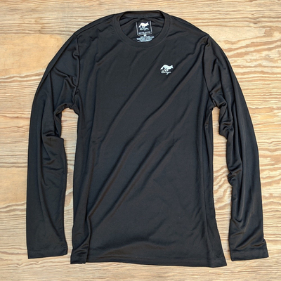 Runyon Canyon Apparel Mens Black Long Training Shirt Made In USA great for Hiking Running Trails Outdoor Fitness
