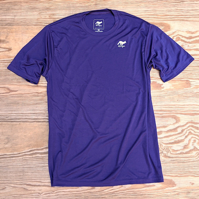 Runyon Mens Purple Training Fitness Shirt Moisture Wicking Performancewear for Hiking Running Outdoor Fitness Made In USA