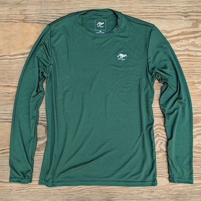 Runyon Canyon Apparel Mens Green Forrester Long Fitness Shirt Made In USA