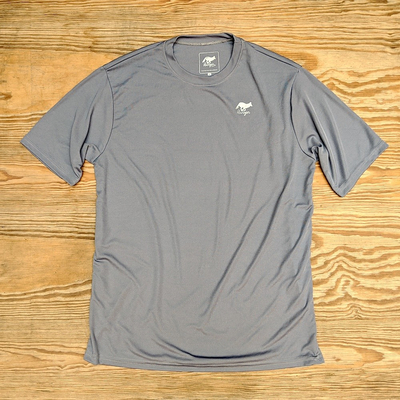 Runyon Canyon Apparel Mens Steel Grey Performance Workout Shirt Made In USA